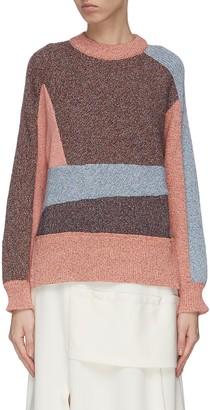 Cédric Charlier Paneled colourblock sweater