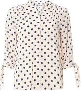 Dorothy Perkins Petite Blush Spot Tie Sleeve Top