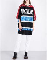 Tommy Hilfiger Oversized sequin-embellished T-shirt