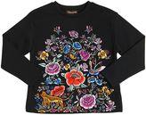 Roberto Cavalli Embroidered Cotton Interlock Sweatshirt