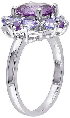 FINE JEWELRY Genuine Amethyst and Tanzanite Sterling Silver Ring