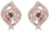 Effy Jewelry Effy Blush 14K Rose Gold Morganite and Diamond Earrings, 2.87 TCW