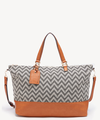 Sole Society Women's Ashla Weekender Fabric In Color: Cognac Combo Bag 43 From