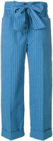 Tory Burch Robin cropped pants - women - Cotton/Spandex/Elastane - 4