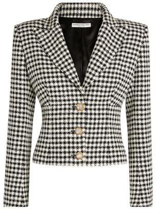Alessandra Rich Houndstooth Single-Breasted Suit Jacket