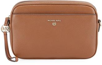 MICHAEL Michael Kors Jet Large Leather Zip Crossbody Bag