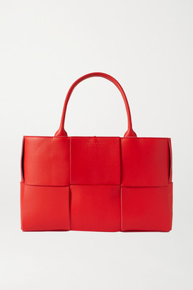 Bottega Veneta Intrecciato Leather Tote - Red