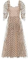 Isa Arfen Ethereal polka-dotted tulle dress