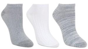 Cuddl Duds Women's 3-Pk Chainstitched Low-Cut Socks