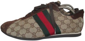 Gucci Brown Suede Trainers