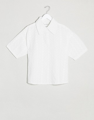 NATIVE YOUTH relaxed shirt in broderie co-ord