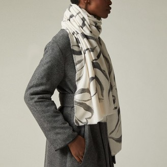 Love & Lore Love And Lore Painted Floral Scarf Crema