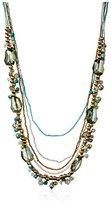 Leslie Danzis Chunky Stone Multi Strand Necklace
