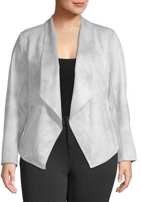 Jones New York Plus Draped Front Jacket