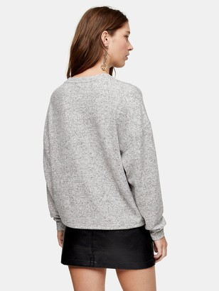 Topshop Super Soft Sweat Pyjama Top - Grey