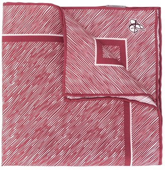 Canali Scribble Print Pocket Handkerchief