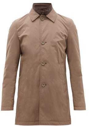 Herno Single Breasted Shell Car Coat - Mens - Light Brown