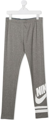 Nike Kids TEEN logo-print leggings