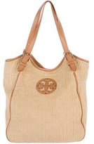 Tory Burch Leather-Trimmed Straw Hobo