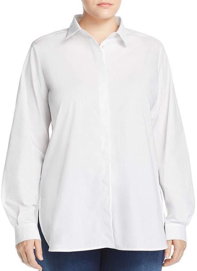 Marina Rinaldi Babordo Button-Down Cotton Shirt