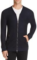 John Varvatos Collection Chevron Stitch Zip Cardigan Sweater