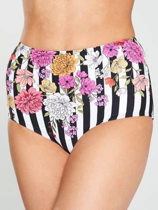Very High Waist Bikini Brief - Placement Print