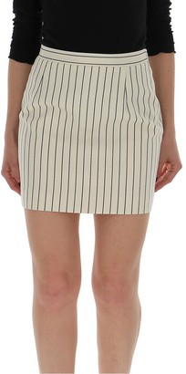 Alessandra Rich Striped Mini Skirt
