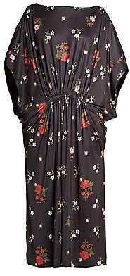 Simone Rocha Women's Dolman-Sleeve Floral Caftan Dress