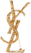 Saint Laurent Gold-tone Brooch - one size