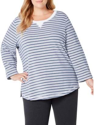 Karen Scott Plus Plus-Size Zoe Striped Sweatshirt