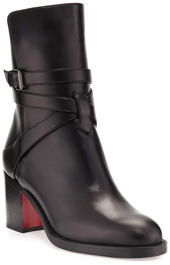 c186fd54e09 Karistrap Leather 70mm Red Sole Ankle Boot