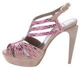 Versace Embellished Platform Sandals