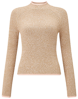 Miss Selfridge Funnel Neck Jumper, Camel