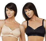 Breezies Set of 2 Full Coverage Wirefree Brasw/UltimAir