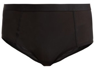 Negative Underwear Sieve High-rise Mesh Briefs - Black