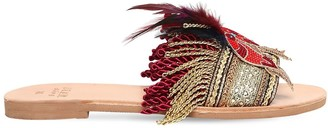 Mabu By Maria Bk 10mm Kaira Parrot & Fringe Sandals