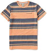Calvin Klein Big Boys 8-20 Horizontal-Stripe Short-Sleeve Tee