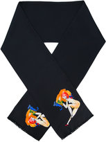 Paul Smith model print scarf