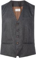 Brunello Cucinelli pinstripe waistcoat - men - Cupro/Wool - 48