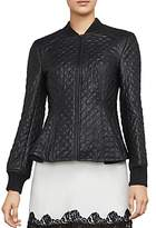 BCBGMAXAZRIA Charles Faux-Leather Quilted Jacket
