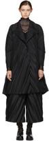 Issey Miyake Black Slant Pleats Coat