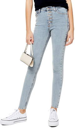 Topshop Jamie Button Fly High Waist Ankle Skinny Jeans