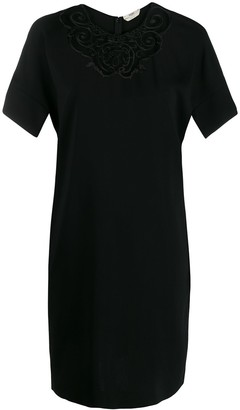 Fendi Embroidered Shift Dress