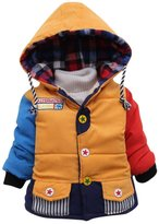 Happy Cherry Toddler Kids Boys Warm Jacket Gown Hoodie Outerwears Coat 4T