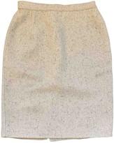 Genny White Wool Skirt for Women Vintage