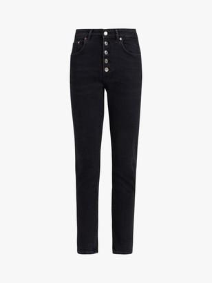 AllSaints Jules Slim Jeans, Washed Black