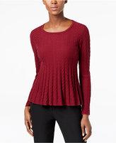 CeCe Cotton Chevron-Knit Sweater