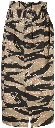 Rachel Comey Printed Belted Skirt