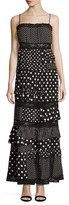 Marc by Marc Jacobs Dop Print Ruffle Maxi Dress