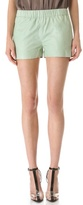 J brand ready-to-wear Lynn Paper Leather Shorts